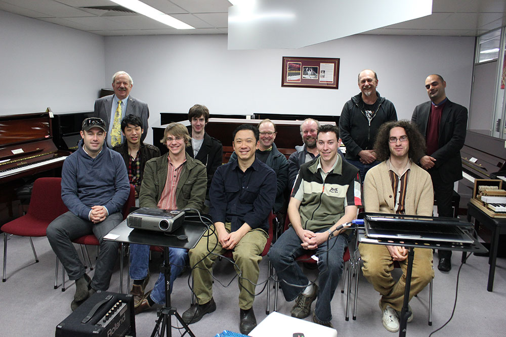 Students at the Australasian School of Piano Technology